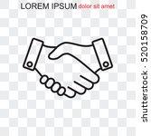 line icon    handshake | Shutterstock .eps vector #520158709