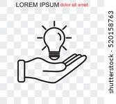 line icon  idea | Shutterstock .eps vector #520158763