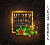 christmas design  realistic... | Shutterstock .eps vector #520159144