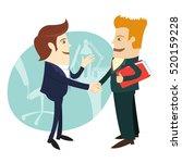 illustration happy birthday... | Shutterstock . vector #520159228
