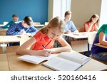 education  learning and people... | Shutterstock . vector #520160416