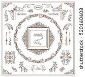 vector set of vintage elements... | Shutterstock .eps vector #520160608