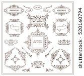 vector set of vintage elements... | Shutterstock .eps vector #520160794