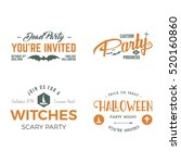 halloween 2016 party invitation ... | Shutterstock . vector #520160860