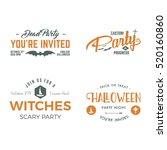 halloween 2016 party invitation ... | Shutterstock . vector #520160860