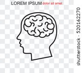 line icon   brain | Shutterstock .eps vector #520162270