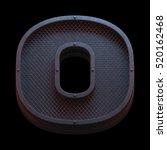 prison metal font. 3d rendering | Shutterstock . vector #520162468