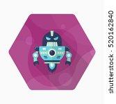 robot icon   vector flat long...   Shutterstock .eps vector #520162840