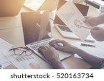 working process.finance trade... | Shutterstock . vector #520163734