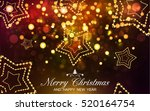 merry christmas and happy new... | Shutterstock .eps vector #520164754