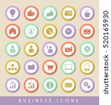 set of business icons on... | Shutterstock .eps vector #520165930