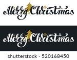 christmas  banner set. merry...   Shutterstock .eps vector #520168450