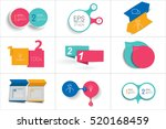 two elements banner. 2 steps... | Shutterstock .eps vector #520168459