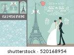 wedding design template set... | Shutterstock .eps vector #520168954