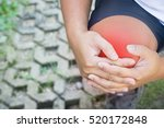 male knee injury and pain. | Shutterstock . vector #520172848