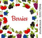 berry and fruit background with ... | Shutterstock .eps vector #520173046