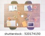 modern workplace at office | Shutterstock . vector #520174150