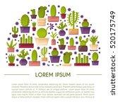 vector illustration with... | Shutterstock .eps vector #520175749