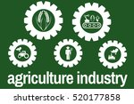 agriculture industry icon ... | Shutterstock . vector #520177858
