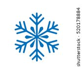 snowflake winter isolated on... | Shutterstock .eps vector #520178884