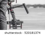 videographer with gimball video ... | Shutterstock . vector #520181374