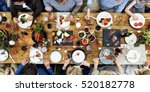 group of people dining concept | Shutterstock . vector #520182778
