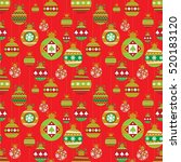 holiday seamless background... | Shutterstock .eps vector #520183120