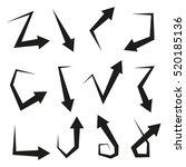 vector illustration arrows set | Shutterstock .eps vector #520185136