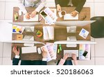 business people working at... | Shutterstock . vector #520186063