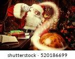 Santa Claus At Home Reading Th...