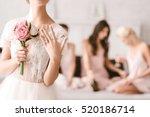 beautiful bride showing her... | Shutterstock . vector #520186714