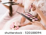 young bridesmaid holding the... | Shutterstock . vector #520188094