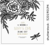 floral wedding invitation.... | Shutterstock .eps vector #520190194