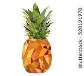 tropical healthy fruit.... | Shutterstock .eps vector #520191970