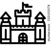 castle icon | Shutterstock .eps vector #520192078