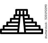 mayan pyramid icon | Shutterstock .eps vector #520192090