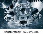 cogwheels  gears and ball... | Shutterstock . vector #520193686