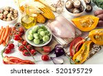 healthy eating  dieting concept.... | Shutterstock . vector #520195729