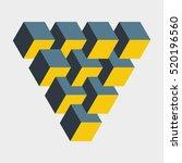 medium penrose triangle... | Shutterstock .eps vector #520196560