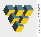 medium penrose triangle... | Shutterstock .eps vector #520196590