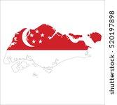 singapore map  | Shutterstock .eps vector #520197898