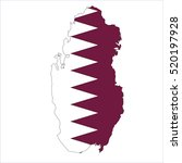qatar map on | Shutterstock .eps vector #520197928