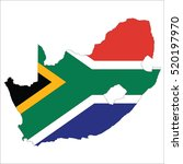 flag map of south africa | Shutterstock .eps vector #520197970