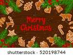 merry christmas and happy new... | Shutterstock .eps vector #520198744
