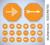 arrow icons set   vector... | Shutterstock .eps vector #520198750