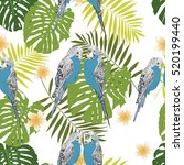 tropical seamless pattern | Shutterstock .eps vector #520199440