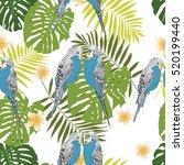 tropical seamless pattern | Shutterstock .eps vector #520199440