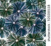 seamless background. flowers....   Shutterstock . vector #520200118