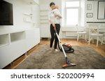 happy smiling woman doing... | Shutterstock . vector #520200994