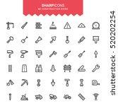 minimalistic thin line... | Shutterstock .eps vector #520202254